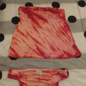 Lucky Brand tie dye swim suit